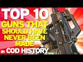 "Top 10 ""Guns That Should Have Never Been Made"" in COD HISTORY (Top 10 - Top Ten) Call of Duty"