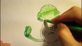 How To Draw Plants Vs Zombies 2-Bonk Choy All Plants Characters Garden Warfare Step By Step