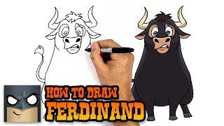 How to Draw Ferdinand (Step by Step Drawing Tutorial)