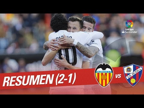 Resumen de Valencia CF vs SD Huesca (2-1)