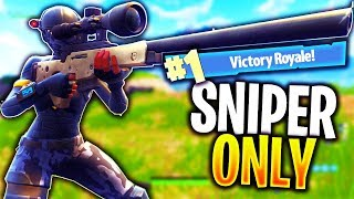 "*NEW* ""SNIPER ONLY"" VICTORY ROYALE! UPDATE in Fortnite Battle Royale!"