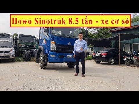 Xe tải sắt xi TMT Sinotruck 8.5 tấn đóng thùng, hoán cải , nâng đầu sau vài phút
