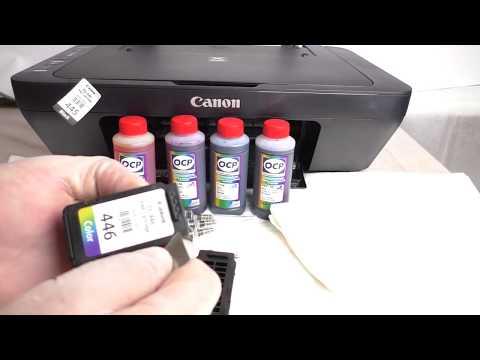 Заправка картриджей PG-445 и CL-446 на Canon MG2540S/MG2440/MG3040