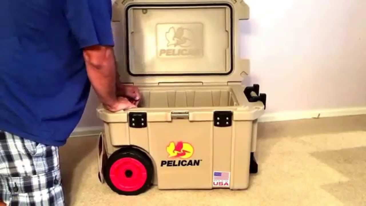 Pelican PreGear Elite 45Q Wheeled Cooler unboxing/review - YouTube