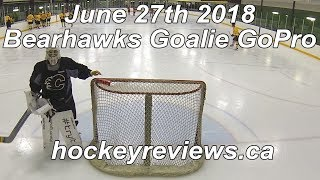 June 27th 2018 Bearhawks 1st Game in Bauer 2S Pro Pads & Gloves Hockey Goalie GoPro