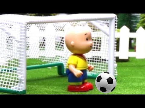 caillou plays football stop motion cartoon soccer caillou football cartoons for children