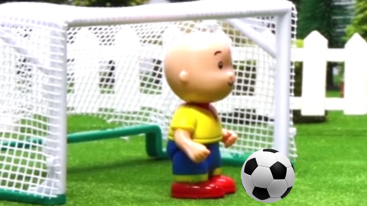 Caillou plays football Stop Motion | Cartoon soccer | CAILLOU FOOTBALL | Videos For Kids