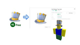 """Roblox Item """"Full Metal Top Hat"""" Is Selling Now For R$800"""