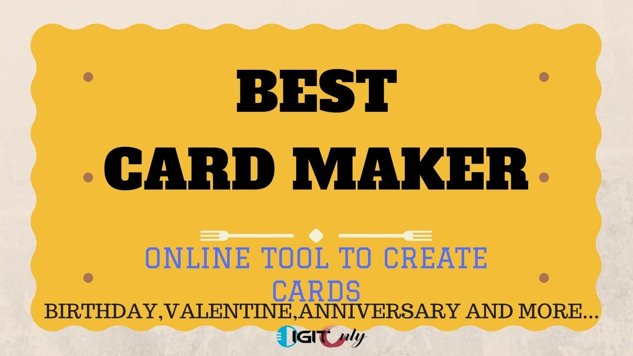 How To Make Birthday Card Online Free Best Online Card Maker Youtube