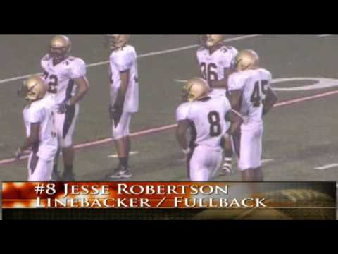 #8 Jesse Robertson 2008 Varsity Football Senior Highlights.  Frederick Douglass High School