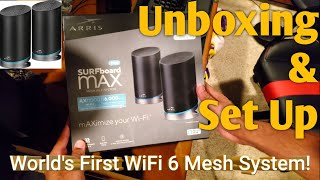 ARRIS mAX Pro SURFboard Max Pro Wireless AX11000 Tri Band WiFi6 Mesh System! : UNBOXING & Set Up!
