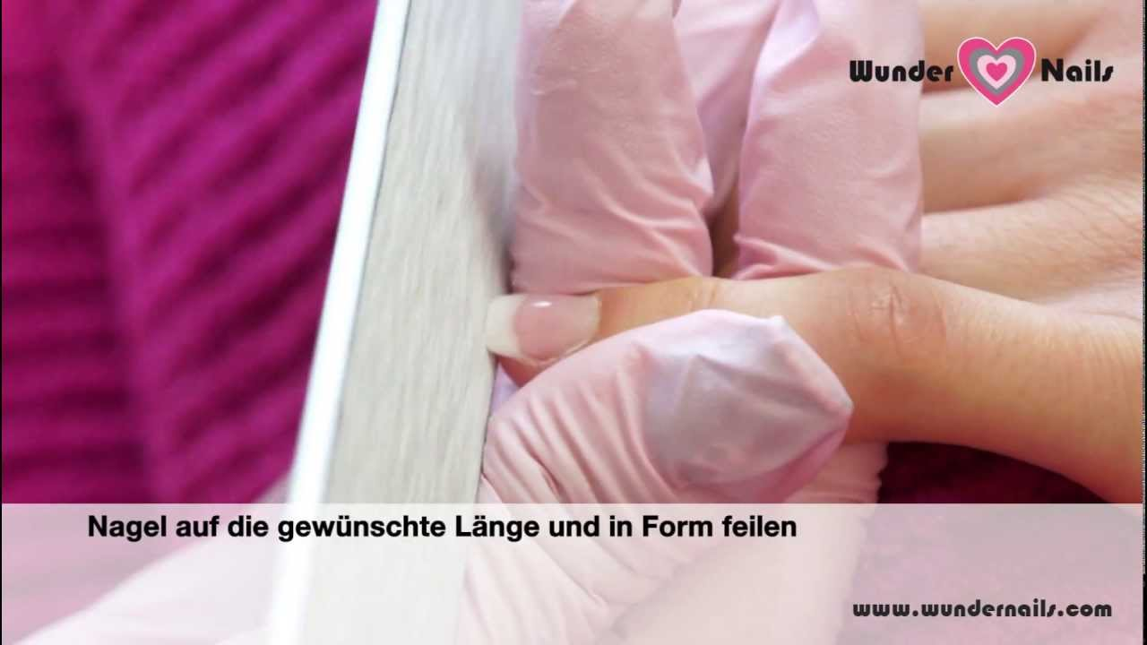 uv french gel geln gel refill von wunder nails zum selber machen step by step anleitung youtube. Black Bedroom Furniture Sets. Home Design Ideas