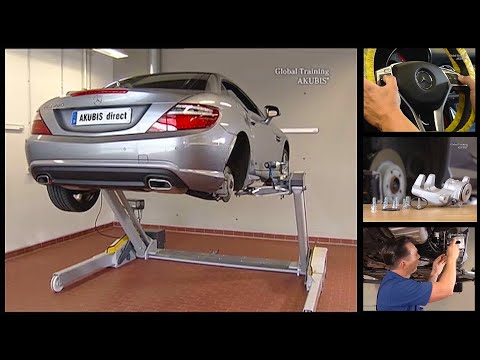 Mercedes Benz SLK | Remove/install Brake Pads Of Rear Axle Brake In Assembly Position