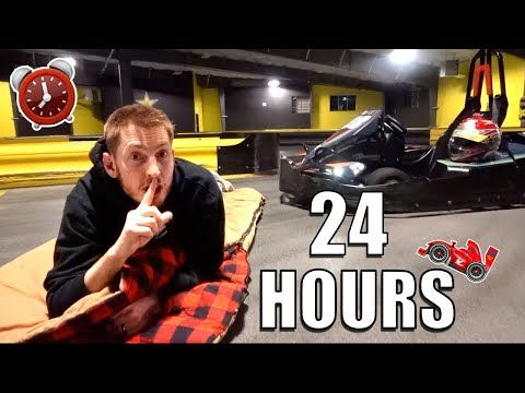 24 HOUR OVERNIGHT CHALLENGE IN GO KART TRACK!