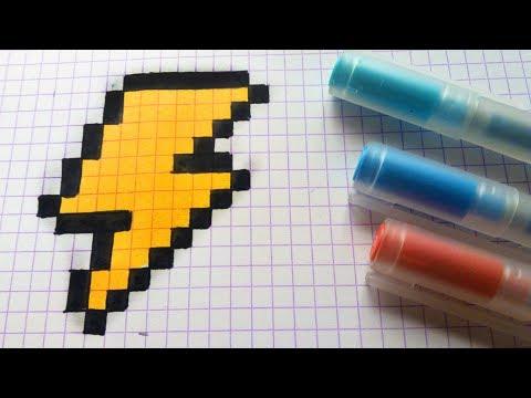 Handmade Pixel Art - How To Draw a Thunderbolt #pixelart