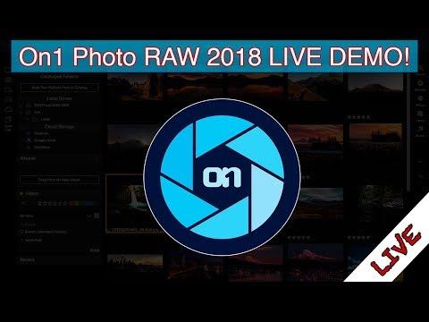 🔴LIVE: ON1 Photo RAW 2018 LIVE DEMO!