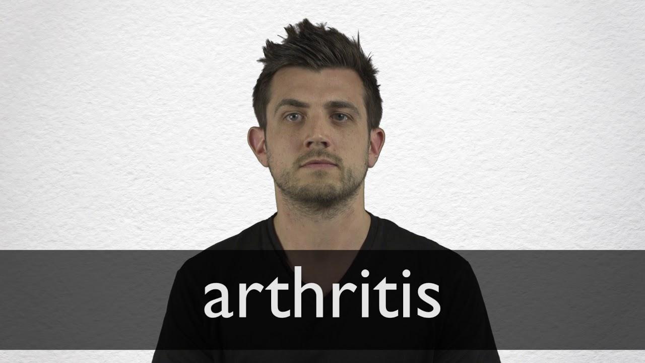 How to pronounce ARTHRITIS in British English