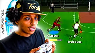 PLAYING THE OLDEST NBA 2K ON THE SEGA DREAMCAST WITH ALL-TIME LEGENDS!! HILARIOUS GAMEPLAY