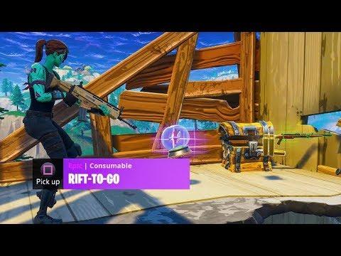 *NEW* RIFT-TO-GO Gameplay in Fortnite Battle Royale! (New Fortnite Update)