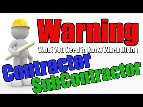 Hiring a Contractor and Subcontractor. - Chakits Krulsawat