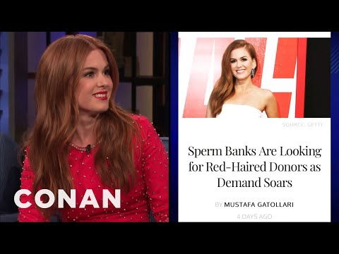 Isla Fisher Is The Face Of Redheaded Sperm Donors - CONAN On TBS