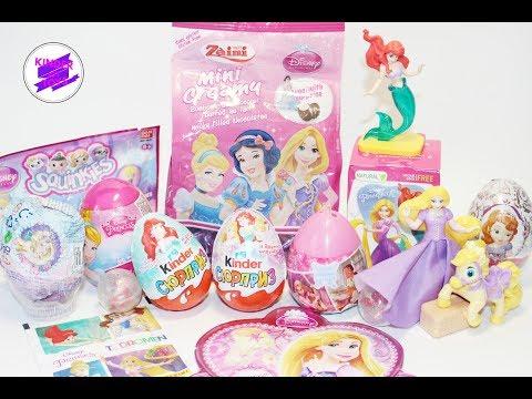 Принцессы Дисней в сюрпризах! Сладости с игрушками.