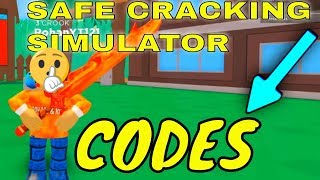SAFE CRACKING SIMULATOR CODES - ROBLOX