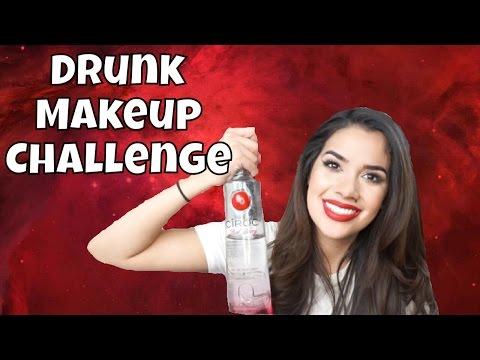 Drunk Makeup Challenge   Nikki Glamour