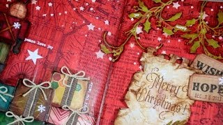 Art Journal page : Merry Christmas