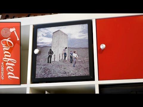 DIY IKEA Expedit / Kallax Door with Vinyl Album Art | IKEA Hacks Woodworking