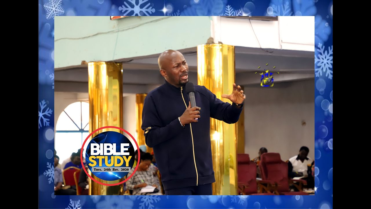 Spiritual Growth By Apostle Johnson Suleman Bible Study Tue 24th Nov 2020 Youtube
