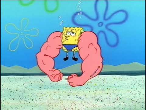 Spongebob loves to flex