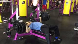 Planet Fitness Paused Bench Press 2-25-15 385 Paused At 152 Body Weight Raw