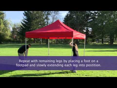 How to setup an instant canopy, pop up tent