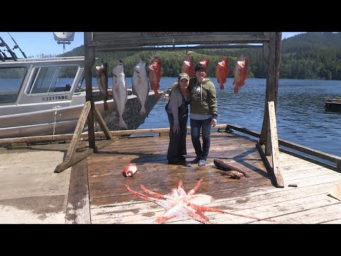 Halibut, Rockfish & Lingcod Fishing Winter Harbour, BC 2017