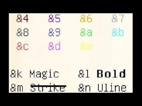 как сделать цветное название клана в майнкрафт 1.8 #9