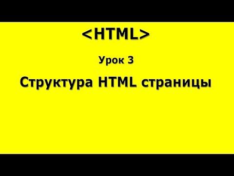 Каркас HTML страницы, разметка кода  Урок 3 по HTML