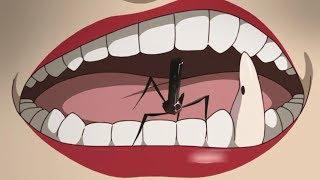 【魔女嘉尔】女子把蛀牙虫种在自己牙齿里,越养越肥大,最后居然还和虫。。。x体了!!日本TV动画《龙的牙医》