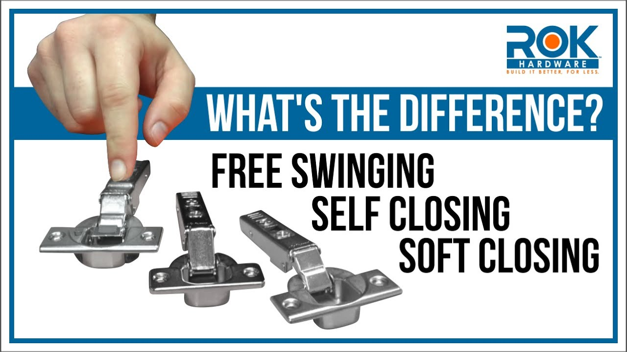 Cabinet Hinges 101 3 Closing Types of Euro Hinges  sc 1 st  YouTube & Cabinet Hinges 101: 3 Closing Types of Euro Hinges - YouTube