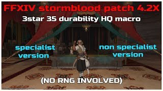 FFXIV stormblood patch 4 4 HQ rotation for new 4star 35