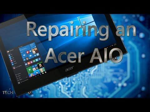 Fixing an Acer Aspire All In One - BOM TECH Recorded Repair