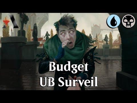 MTG Arena GRN | Dimir Surveil Budget DeckTech & Gameplay [Stake Out]