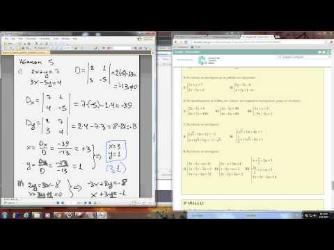 Άλγεβρα Β Λυκείου, Γενικής Παιδείας, Ενότητα 1.1, Γραμμικά Συστ, Λύσεις των ασκήσεων της Α Ομάδας