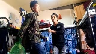 Nepali boys funny dance at doha qatar,,,!