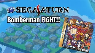 Bomberman Fight!! Sega Saturn (J) - Gameplay Intro / stage 1-5  EPIC STAGE 5 Battle