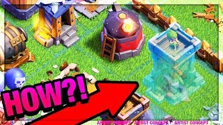 'INVISIBLE' Archer Tower in Clash of Clans?! GLITCHED CoC Game Play!