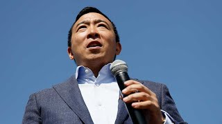 Presidential candidate Andrew Yang arrives for rally in Los Angeles I ABC7