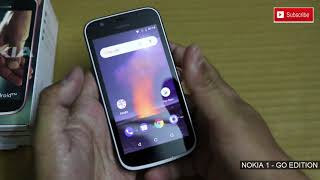 #Hindi - #Nokia 1 2018 - Go Edition 2018 - Unboxing and First Look