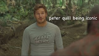 peter quill being iconic for 3 minutes straight