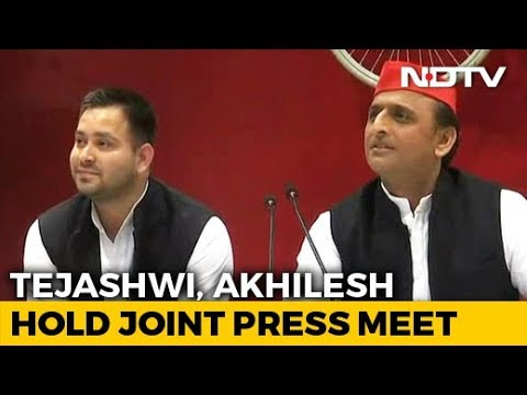 How Tejashwi Yadav, Seated By Akhilesh Yadav, Handled Congress Question